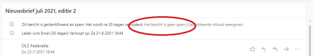 geen spam